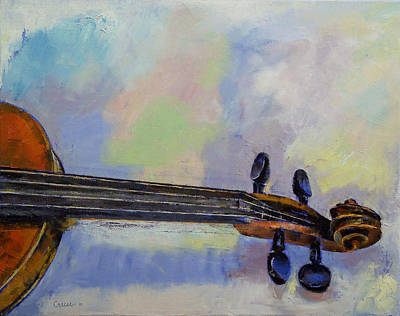 Violin Painting - Stradivarius by Michael Creese