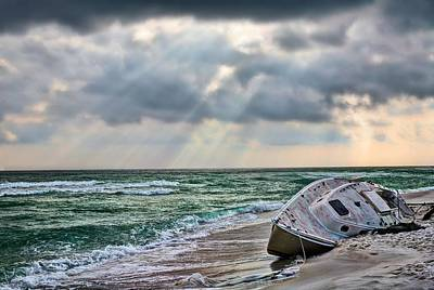 Navarre Beach Photograph - Stranded In Paradise  by JC Findley