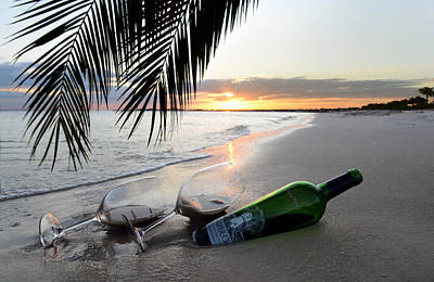 Wine Bottle Photograph - Lost In Paradise by Jon Neidert