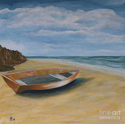 Old Objects Painting - Stranded Rowboat by Christiane Schulze Art And Photography