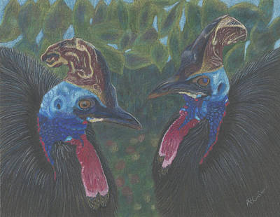 Rainforest Drawing - Strange Birds by Arlene Crafton