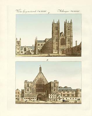 Westminster Abbey Drawing - Strange Buildings In London by Splendid Art Prints