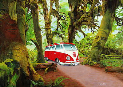 Trippy Painting - Strange Days by Joshua Morton