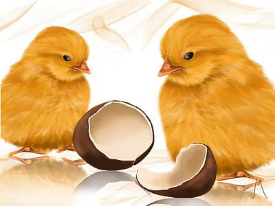 Digital Painting - Strange Egg by Veronica Minozzi