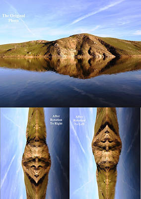Photograph - Strange Faces In Water Reflection 2 by Faouzi Taleb