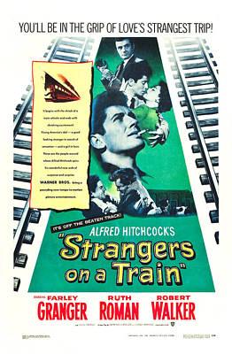 Granger Photograph - Strangers On A Train - 1951 by Georgia Fowler