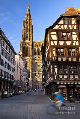 Strasbourg Cathedral Print by Brian Jannsen