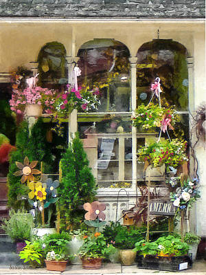 Strasburg Flower Shop Print by Susan Savad
