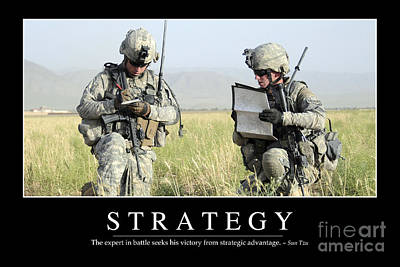 Strategy Inspirational Quote Print by Stocktrek Images
