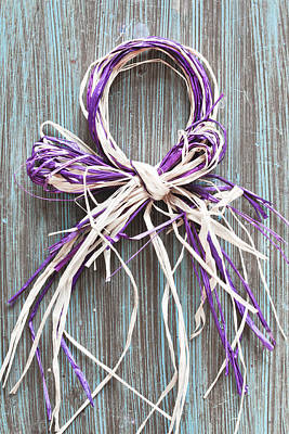 Violet Photograph - Straw Decoration by Tom Gowanlock