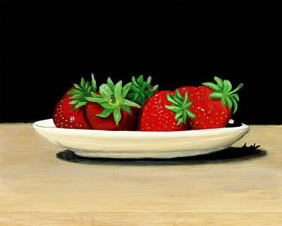 Strawberries Print by Karyn Robinson