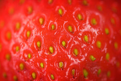 Leaves Digital Art - Strawberry Abstract by Modern Art Prints