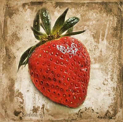 Strawberry  Print by Barbara Orenya