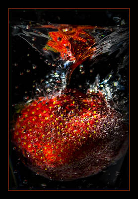 Strawberry Dunk Print by Ernie Echols