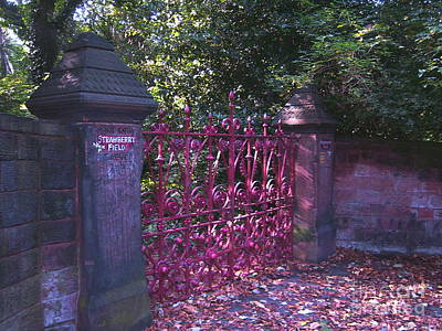 Strawberry Field Gates Print by Steve Kearns