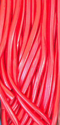 Licorice Photograph - Strawberry Laces by Tom Gowanlock