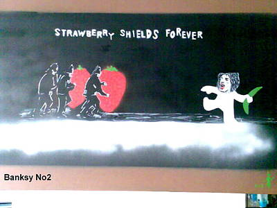 Strawberry Shields Forever Print by MERLIN Vernon