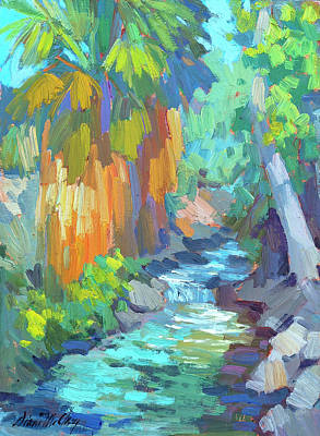 Canyon Painting - Stream At Indian Canyon by Diane McClary