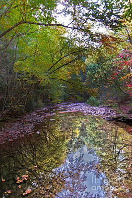 Stone Trough Photograph - Trough Creek Reflection by Dawn Gari