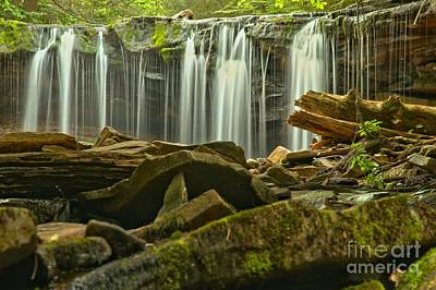 Pa State Parks Photograph - Streaming Toward The Rocks by Adam Jewell
