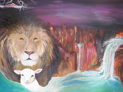 Lion Of Judah Painting - Streams In The Desert by Rachael Pragnell