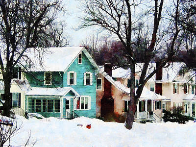 Street After Snow Print by Susan Savad