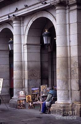 Artist Working Photograph - Street Artist Madrid by James Brunker