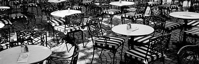 Street Cafe, Frankfurt, Germany Print by Panoramic Images