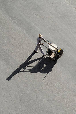 Getty Photograph - Street Cleaner In Havana Cuba by Rob Huntley