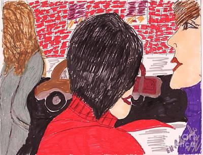 Street Corner Gossip Original by Elinor Rakowski