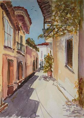 Street In Aghios Nicolaos Crete Original by Brian Tucker