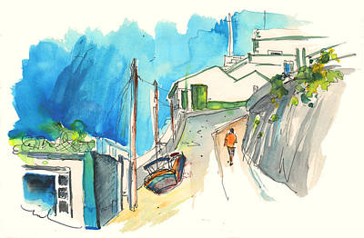 Street In Ericeira In Portugal Print by Miki De Goodaboom
