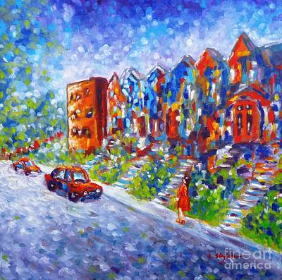 House Painting - Street In Montreal by Cristina Stefan
