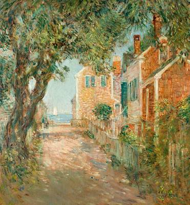 Suburban Painting - Street In Provincetown by  Childe Hassam