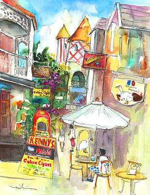 West Indies Drawing - Street In Saint Martin by Miki De Goodaboom