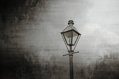Street Lamp On The River Print by Brenda Bryant