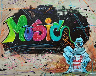 Graffiti Painting - Street Music by Laura Barbosa