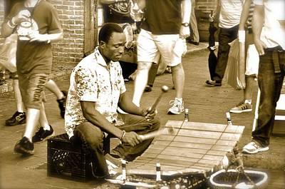 Street Musician Print by Kristina Deane