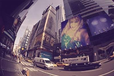 Etc Mixed Media - Street Of New York by HollyWood Creation By linda zanini