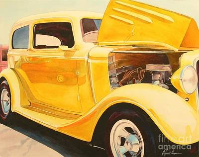 Hot Rod Painting - Street Rod by Robert Hooper