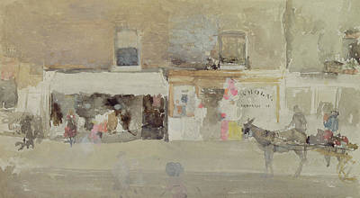 Horse And Cart Painting - Street Scene In Chelsea by James Abbott McNeill Whistler