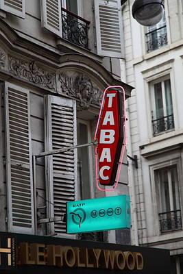 Street Scenes - Paris France - 011340 Print by DC Photographer