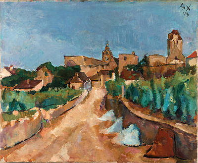 Anton Faistauer Painting - Street Towards Duernstein by Anton Faistauer