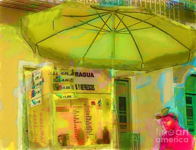 Snack Bar Digital Art - Street Vendor Puerto Rico by Debra Chmelina