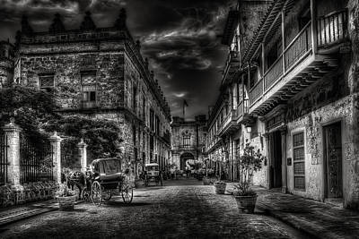 Coach Photograph - Streets Of Havana Bw by Erik Brede