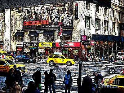 Streets Of Manhattan 20 Print by Mario Perez
