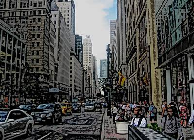 Streets Of New York City 1 Print by Mario Perez