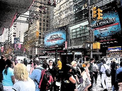 Streets Of New York City 3 Print by Mario Perez