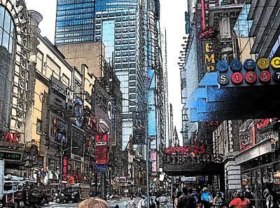 Horizontal Photograph - Streets Of New York City 6 by Mario Perez