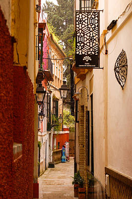 Streetlight Photograph - Streets Of Seville  by Andrea Mazzocchetti